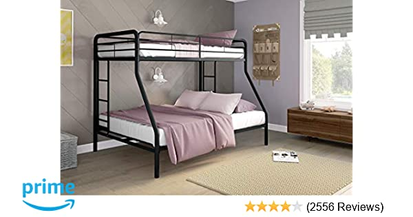 Amazon Com Dhp Twin Over Full Bunk Bed With Metal Frame And Ladder