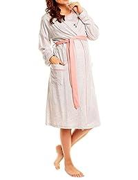 Happy Mama Women's Maternity Nightie Robe Hospital Set Nursing Nightshirt. 385p
