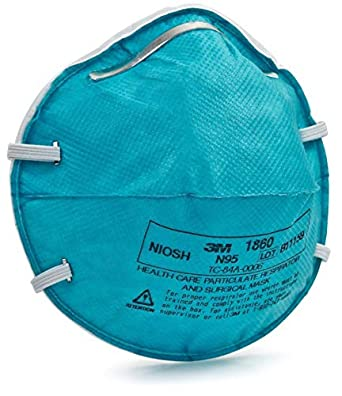 1860 N95 20 Box Per - Respirator Particulate 3m Size Disposable
