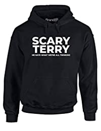 Brand88 - Scary Terry, Adults Printed Hoodie