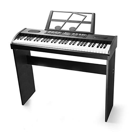 Vangoa VGK6100 61-Key Electronic Piano Keyboard with Stand, LCD Display Music, Black