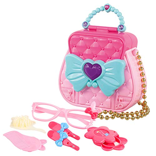AMOFINY Toys House Makeup Hair Dryer Toy Set Makeup Tool Kit Sets Hair Dryer Cosmetics Toys for Girls Kids Children Furniture ()