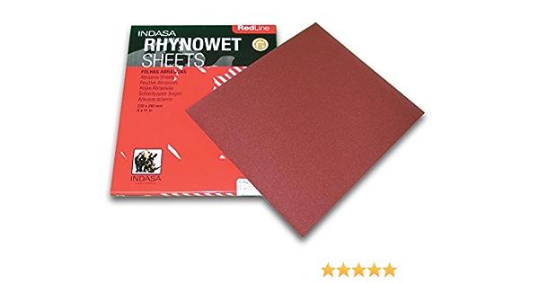 Red  SSS-240 Shinex Sanding Wood Sheet #240