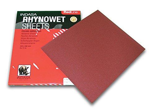 REDLINE XL RHYNOWET SHEETS 9'' X 11'' 400 GRIT 50/box by INDASA