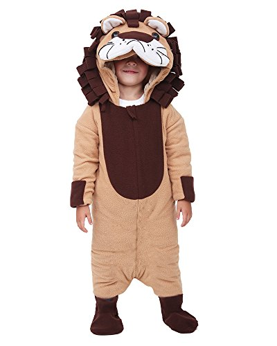 Miccostumes Kids Little Lion King Halloween Cosplay Mascot Costume (Brown) -