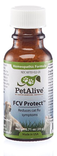 (PetAlive FCV Protect - Natural Homeopathic Formula Temporarily Relieves The Common FCV Symptoms of Watery Eyes, Sneezing and Nasal Congestion in Cats - 20g)