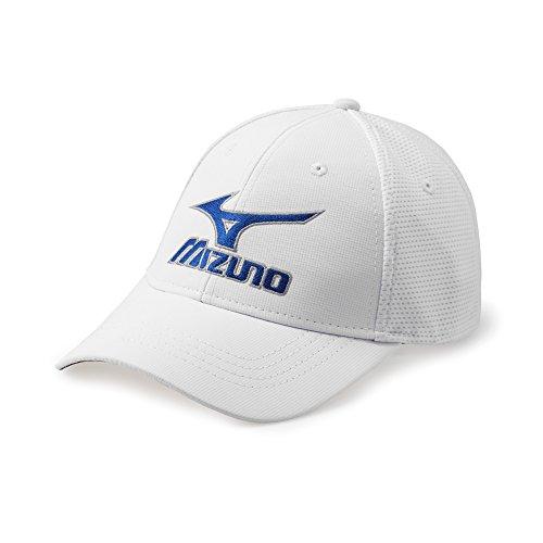 (Mizuno Tour Fitted Cap White,Small/Medium)
