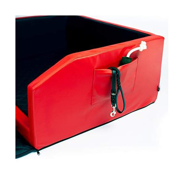 41ncUho%2BeDL CopcoPet Travel Bed 90x70cm / Hunde-Reisebett aus Kunstleder/Hunde-Autobett/Wasserabweisende Tiermatratze/Hundebett mit…