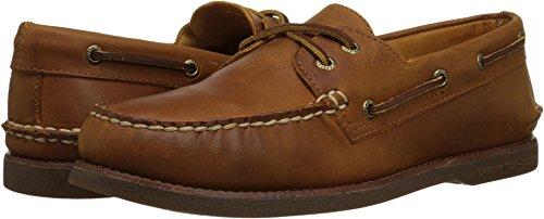 Sperry Top-Sider Men's Gold A/O 2-Eye Moc Toe Boat Shoe,Tan/Gum Full Grain Leath