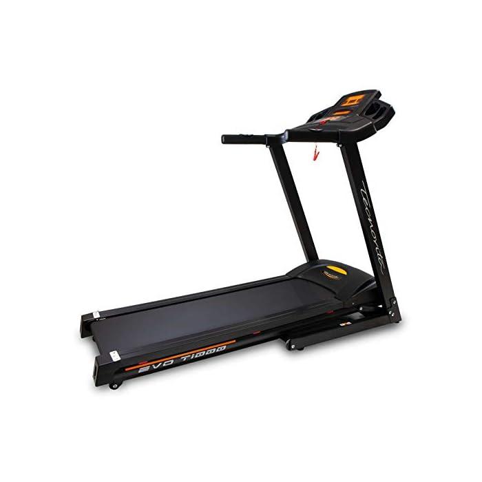 41ncUyWXvfL Cinta de correr eléctrica plegable con apertura y cierre asistido Detección de la palma de las pulsaciones en el manillar. Inclinación eléctrica hasta un 10%. Aumenta la intensidad de los músculos de las piernas y la espalda.