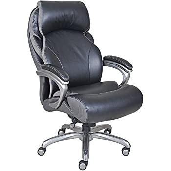Genial Serta Big And Tall Smart Layers Tranquility Executive Office Chair With AIR  Technology, Black