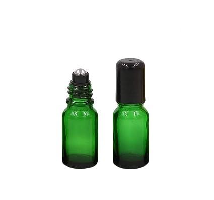 beb9d783e713 4 Packs Glass Roll-on Bottles Refillable Empty Stainless Steel Roller Ball  Essential Oil Bottles Fragrance Aromatherapy Perfume Lip Balms Roller ...