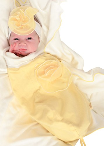 Cozy Cocoon Cozy and Cute Baby Outfit with Matching Hat, Yellow, Willow, 0-3 Months