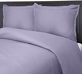 product image for Veratex Luxury Soft Contemporary Style 100% Micro Matique Polyester Shell 3-Piece Bedroom Duvet Cover Set, Full/Queen Size, Amethyst