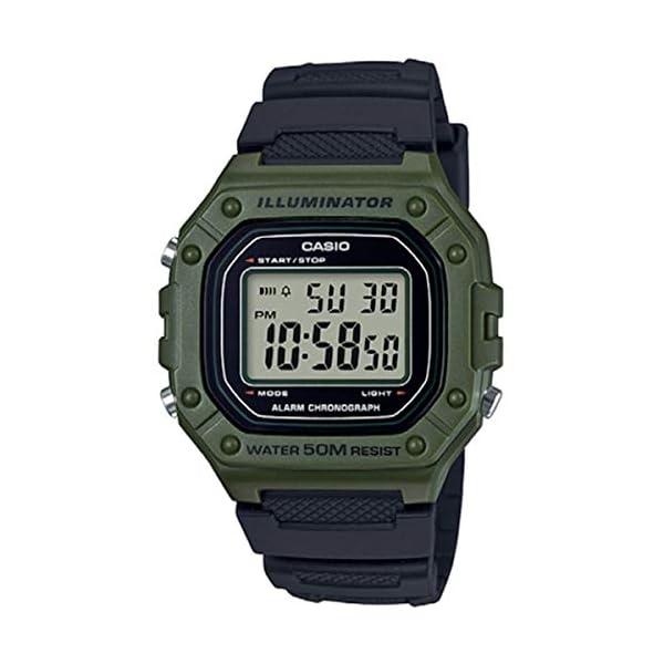 Casio Reloj Digital para Hombre de Cuarzo con Correa en Resina W-218H-3AVEF 41ncWP7zQLL