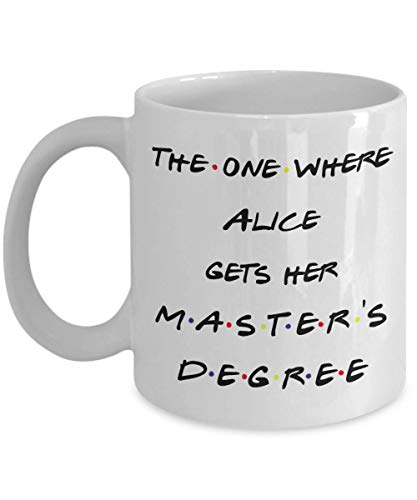 Personalized!! Master's Degree Graduation Friends Gifts Coffee Mug, Best Students Gift Ideas For Daughter, Masters Graduation Gifts For Her College (Gift Ideas For Best Friends College Graduation)