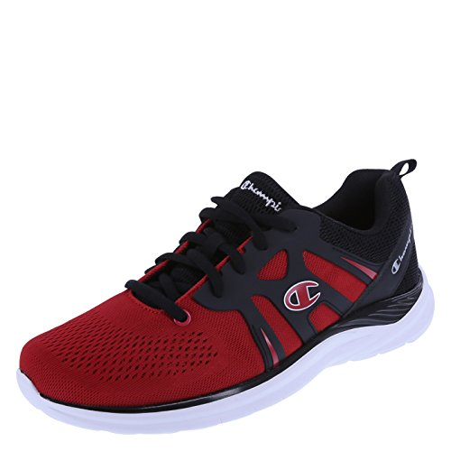 Champion Men's Red Black Men's Exhilarate Runner 7.5 Regular (Mens Red Sneakers)