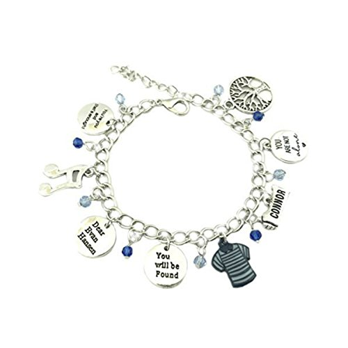 US FAMILY Dear Evan Hansen Musical Theme Multi Charms Jewelry Bracelets Charm by Family Brands