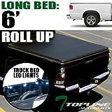 Topline Autopart Roll-Up Soft Truck Topper Cap Tonneau Co...