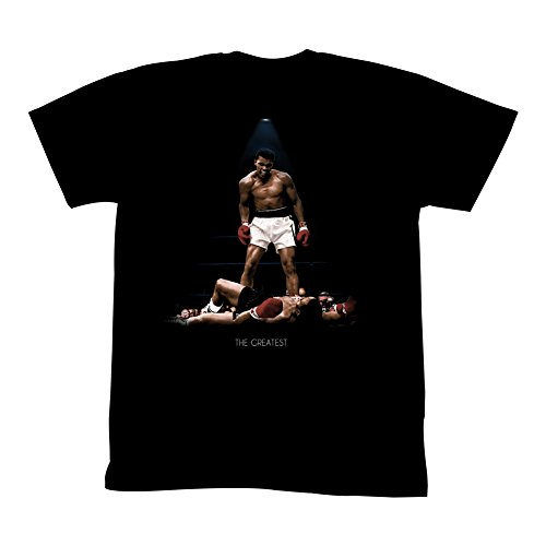 Muhammad Ali Icons All Over Again Adult Short Sleeve T Shirt L Black