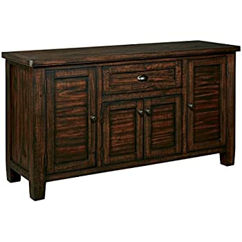 Ashley Furniture Signature Design   Trudell Dining Room Server   Solid Pine  Wood Construction   Dark. Amazon com   Ashley Furniture Signature Design   Mestler Dining