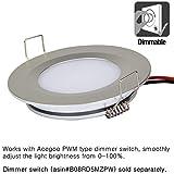 acegoo RV Boat Recessed Ceiling Light 4 Pack Super