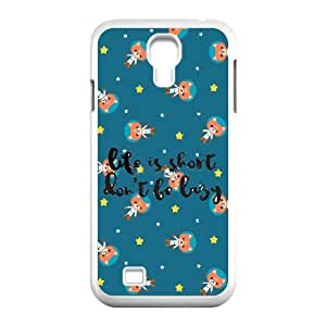 Don't Be Lazy Image On Back Phone Case For Samsung Galaxy S4 I9500