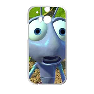 Durable Phone Case Ricrz HTC One M8 Cell Phone Case White A Bug's Life Plastic Durable Cover