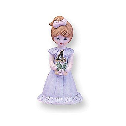 Brunette Age 4 Porcelain Figurine (Porcelain Age 4 Figurine)