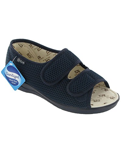 Mirak Textile Lined Womens Sandals - Navy - Size 9