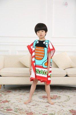 MiGMV niños, toallas de algodón absorbe agua de dibujos animados y engrosamiento gorra y toalla