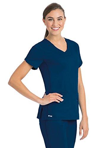 Grey's Anatomy Active 41423 Top Indigo XL
