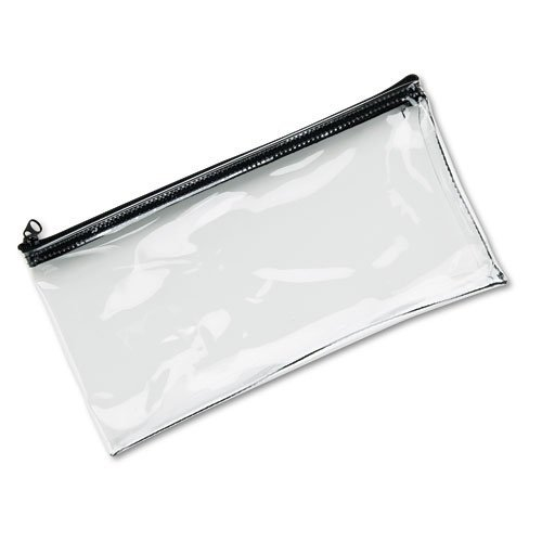 MMF Industries : Leatherette Zippered Wallet, Leather-Like Vinyl, 11w x 6h, Clear -:- Sold as 2 Packs of - 1 - / - Total of 2 Each by MMF Industries - Leatherette Zippered Wallet Leather