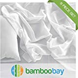 100% Viscose from Bamboo Sheets | Soft, Cool and Durable 6-Piece Bamboo Sheet
