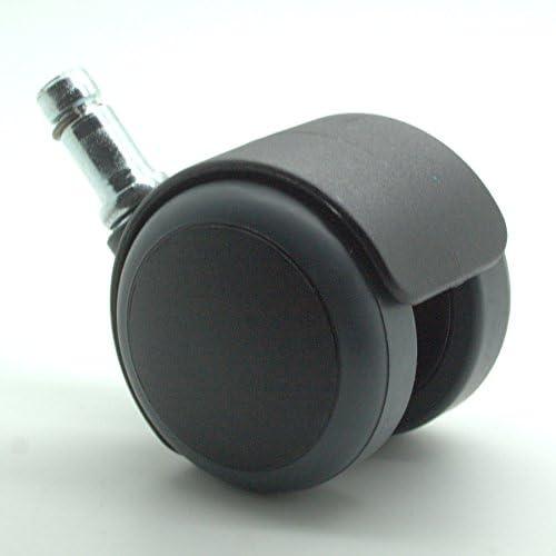 morbide con stelo da 22/mm confezione da 5 per la/riduzione del rumore 10mm Stem da/50/mm Rotelle di ricambio per sedie