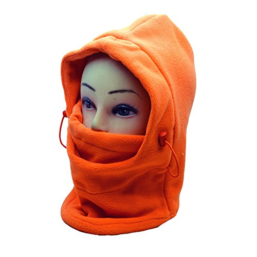 Meanhoo E-Tribe 6 in 1 Full Face Cover Neck Warmers Hoods for Ski Bike Bicycle Outdoor (Orange) (Cheats For Gta I)