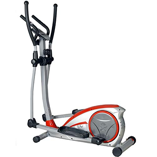 GoaEin Exercise Fitness Machine Household Elliptical Machine Trainer with LCD Monitor and Quiet for Home Gym Fitness…