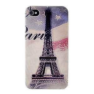 HOR Case Vintage Eiffel Tower estrella patrón duro para el iPhone 4/4S