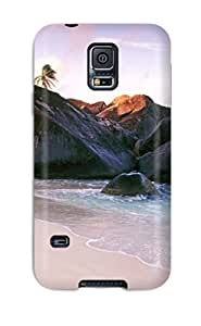 Hot Snap On Virgin Gorda Isl At Sunset British Hard Cover Case Protective Case For Galaxy S5