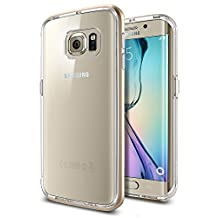 Galaxy S6 Edge Case, Spigen Neo Hybrid CC Galaxy S6 Edge Case with Flexible Inner Casing and Reinforced Hard Bumper Frame for Galaxy S6 Edge 2015 - Champagne Gold