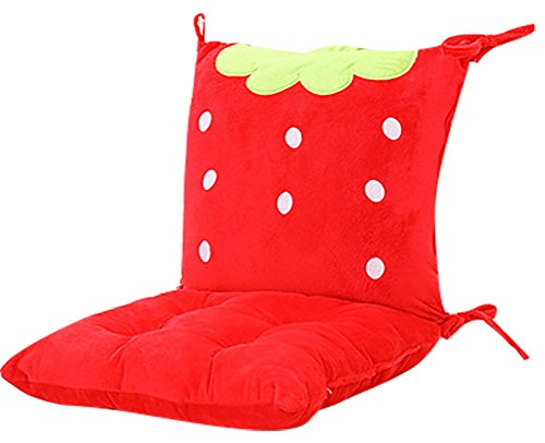 ChezMax Joint Detachable Rocking Chair Back Cushion Set with Ties for Infant Baby Trottie Nursling Rocker Strawberry and Polk Dots