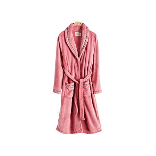 Warmjama Couples Winter Soft Flannel Pajamas Loungewear Robe XL Pink by Warmjama
