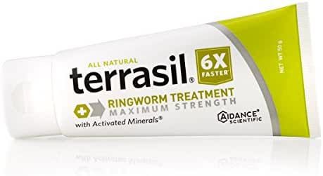 terrasil® Ringworm Treatment MAX - 6X Faster Doctor Recommended Patented All-Natural Anti-Fungal Ointment for itching Burning Pain Inflammation & Irritation from fungal Infection - 50g Tube