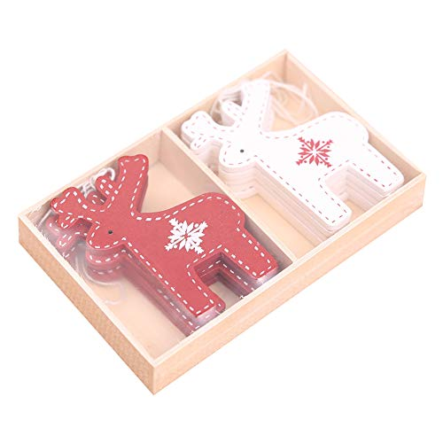 DierCosy 10 Pieces Christmas Wooden Ornaments Christmas for sale  Delivered anywhere in Canada