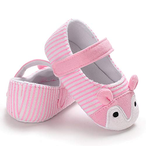 NUWFOR Infant Newborn Baby Girls Prewalker Cartoon Animal Ears Soft Sole Single Shoes(Pink,6~12 Month) by NUWFOR (Image #4)