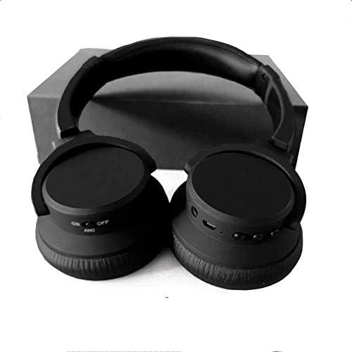RENKUNDE 快適で通気性のためのコンピュータのユニバーサルワイヤレスゲームヘッドセット、簡単な調節可能なヘッドバンドのイヤーパッド ゲーミングヘッドセット (Color : Black1)