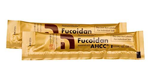 NatureMedic Fucoidan AHCC Brown Seaweed Immunity Supplement with Organic Mekabu Mozuku Agaricus 10 Liquid Packets/Box Made in Japan [New Package]