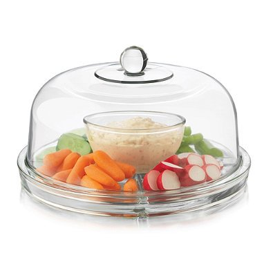 Dailyware Glass 6-in-1 Footed Multifunctional Cake Dome (1)