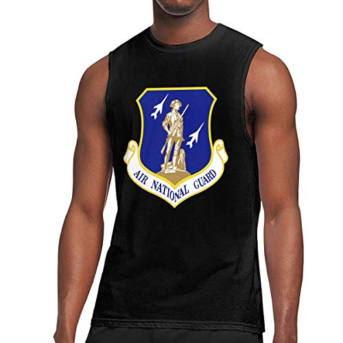 Men's United States Air Force National Guard Muscle Tank Top Gym Bodybuilding Sleeveless Shirts Black
