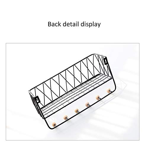 Amazon com: DFS Ledge - Wrought Iron and Wooden Storage Shelves